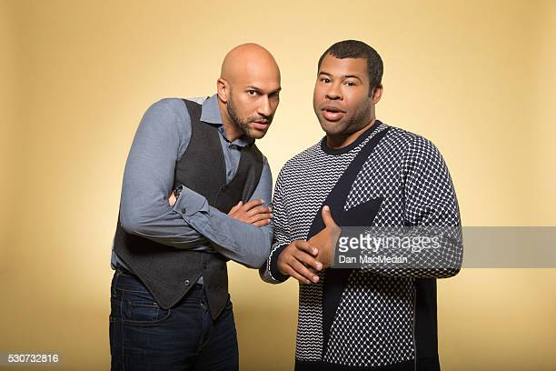 Actor/comedians Keegan Michael Key Jordan Peele are photographed for USA Today on April 24 2016 in Beverly Hills California PUBLISHED IMAGE