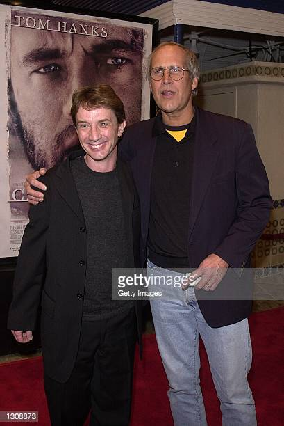 Actorcomedians Martin Short and Chevy Chase arrive for the premiere of Cast Away December 7 2000 in Los Angeles CA
