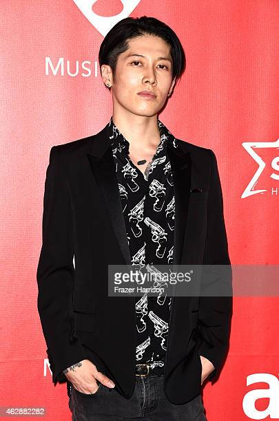 Actor/composer Takamasa Ishihara attends the 25th anniversary MusiCares 2015 Person Of The Year Gala honoring Bob Dylan at the Los Angeles Convention...