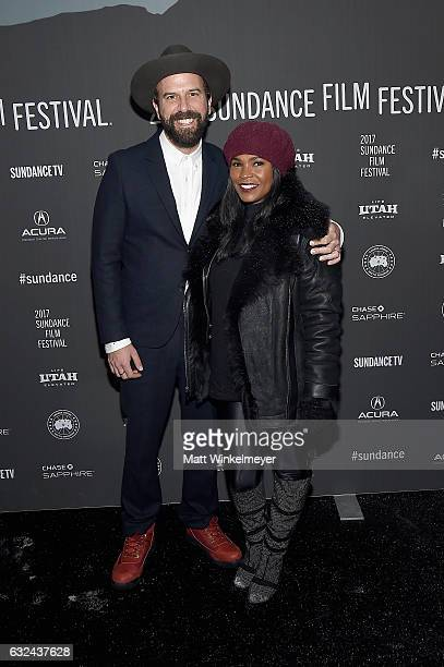 Actor/cowriter Brett Gelman and actress Nia Long attend the Lemon Premiere on day 4 of the 2017 Sundance Film Festival at Library Center Theater on...