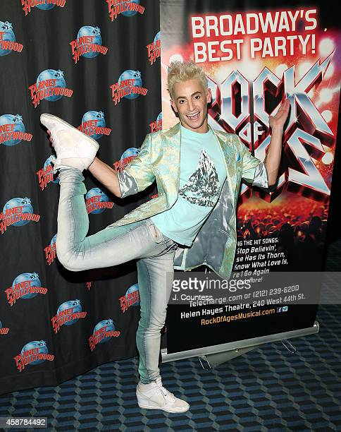 Actor/dancer Frankie J Grande attends the afterparty for the debut performance debut performances of Frankie J Grande Chester See and Lauren Zakrin...