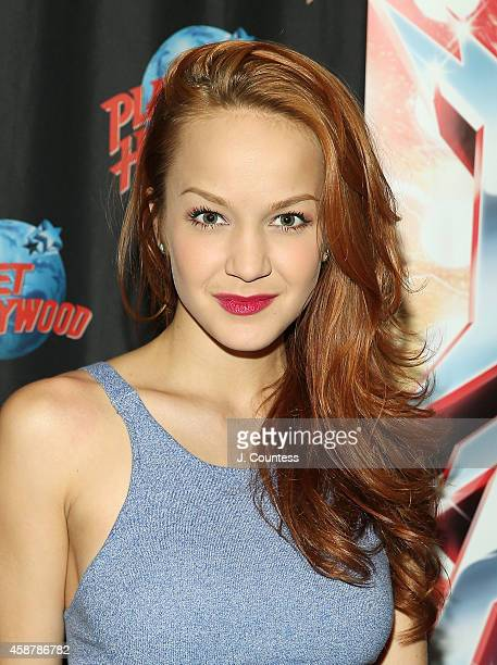 Actor/dancer Lauren Zakrin attends the afterparty for the Broadway production of Rock Of Ages at Planet Hollywood on November 10 2014 in New York City