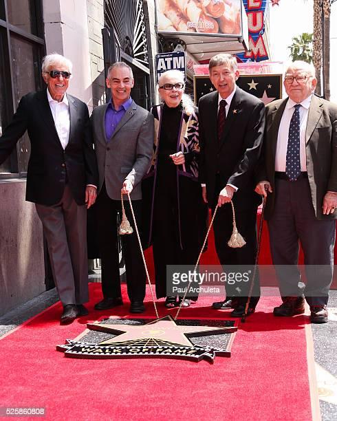 ActorDick Van Dyke Los Angeles City Councilmember Mitch O'Farrel ActressBarbara Bain Hollywood Chamber of Commerce President/CEOLeron Gublerand...