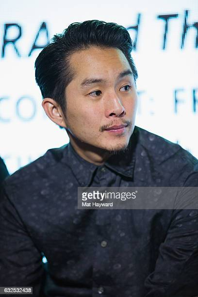 Actor/Direct Justin Chon speaks during the Creating Content From the Margins to the Mainstream panel presented by SAGAFTRA and The Blackhouse...