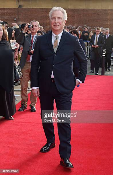Actor/Director Alan Rickman attends the UK premiere of 'A Little Chaos' at ODEON Kensington on April 13 2015 in London England