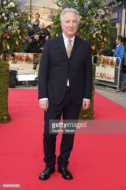 """Actor/Director Alan Rickman attends the UK premiere of """"A Little Chaos"""" at ODEON Kensington on April 13, 2015 in London, England."""