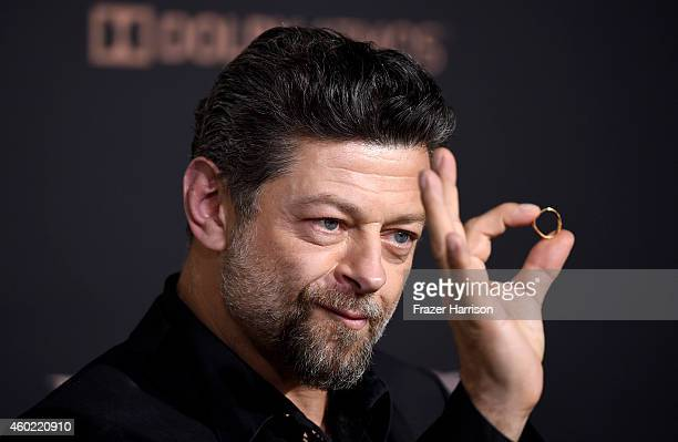 "Actor/Director Andy Serkis attends the premiere of New Line Cinema, MGM Pictures And Warner Bros. Pictures' ""The Hobbit: The Battle Of The Five..."