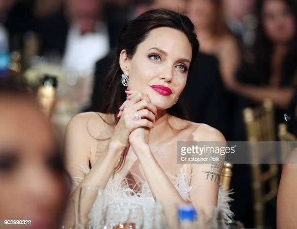 Actor/director Angelina Jolie attends The 23rd Annual Critics' Choice Awards at Barker Hangar on January 11, 2018 in Santa Monica, California.