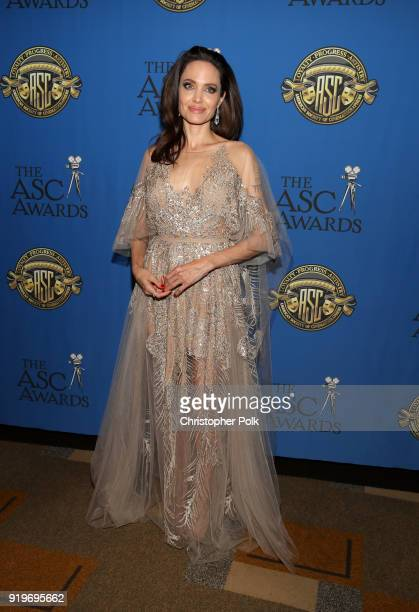 Actor/director Angelina Jolie attends the 32nd Annual American Society Of Cinematographers Awards at The Ray Dolby Ballroom at Hollywood Highland...