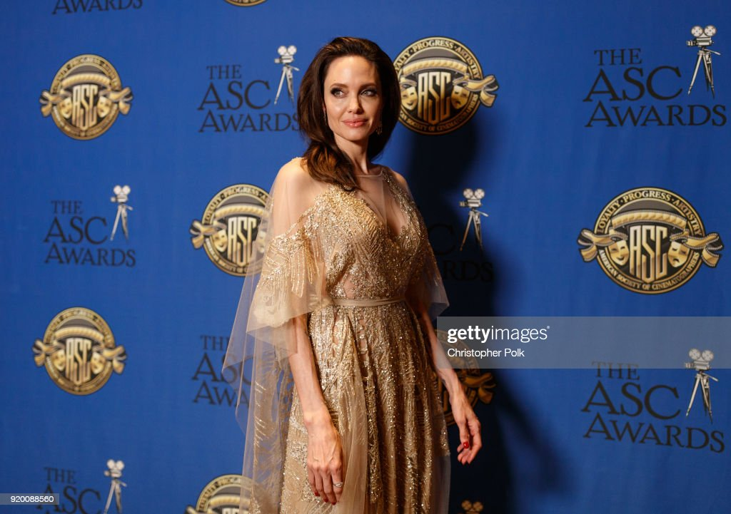 Actor/director Angelina Jolie attends the 32nd Annual American Society Of Cinematographers Awards at The Ray Dolby Ballroom at Hollywood & Highland Center on February 17, 2018 in Hollywood, California.
