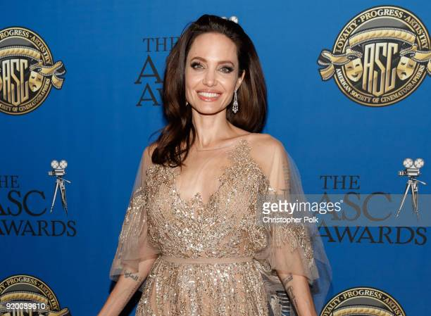 Actor/director Angelina Jolie attends the 32nd Annual American Society Of Cinematographers Awards at The Ray Dolby Ballroom at Hollywood & Highland...