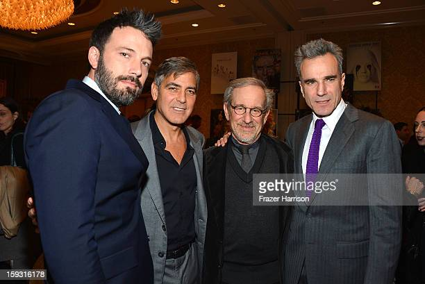 Actor/director Ben Affleck, actor/director George Clooney, director Steven Spielberg, and Daniel Day-Lewis attend the 13th Annual AFI Awards at Four...