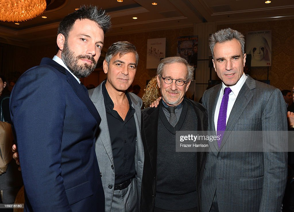 Actor/director Ben Affleck, actor/director George Clooney, director Steven Spielberg, and Daniel Day-Lewis attend the 13th Annual AFI Awards at Four Seasons Los Angeles at Beverly Hills on January 11, 2013 in Beverly Hills, California.