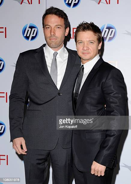 Actor/Director Ben Affleck and actor Jeremy Renner arrive at the 2011 AFI Awards at The Four Seasons Hotel on January 14, 2011 in Beverly Hills,...