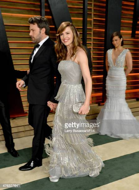 Actor/director Ben Affleck and actress Jennifer Garner attend the 2014 Vanity Fair Oscar Party Hosted By Graydon Carter on March 2 2014 in West...