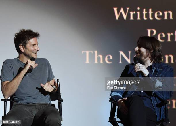 Actor/Director Bradley Cooper and Music Producer Dave Cobb attend 'A Star Is Born' screening with Bradley Cooper and Lukas Nelson at AMC DINEIN...