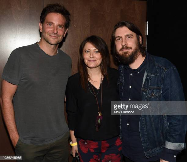 Actor/Director Bradley Cooper Lydia Cobb and Music Producer Dave Cobb attend 'A Star Is Born' screening with Bradley Cooper and Lukas Nelson at AMC...
