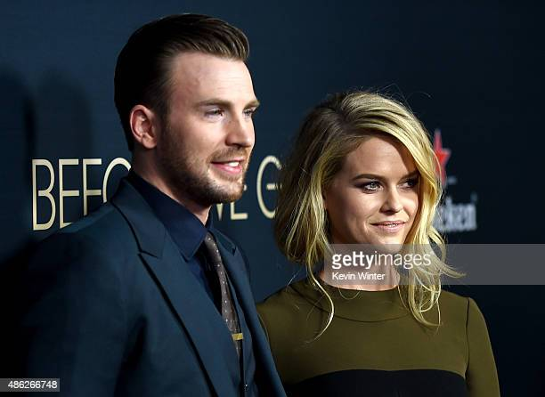 Actor/director Chris Evans and actress Alice Eve arrive at the premiere of Radius and G4 Productions' 'Before We Go' at the Arclight Theatre on...