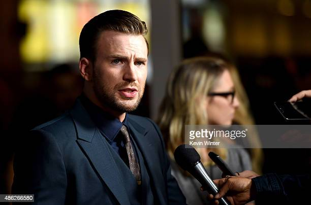 "Actor/director Chris Evans arrives at the premiere of Radius and G4 Productions' ""Before We Go"" at the Arclight Theatre on September 2, 2015 in Los..."