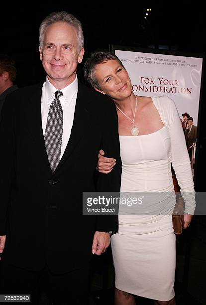 Actor/director Christopher Guest and wife actress Jamie Lee Curtis attend the Los Angeles premiere of the Warner Independent Pictures' film For Your...