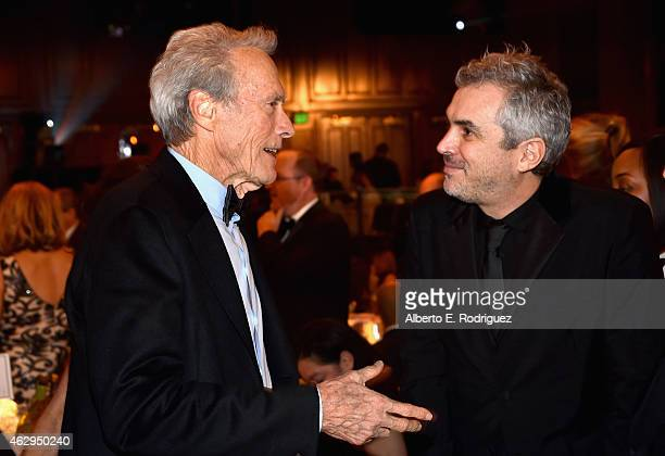 Actor/director Clint Eastwood and director Alfonso Cuaron attend the 67th Annual Directors Guild Of America Awards at the Hyatt Regency Century Plaza...