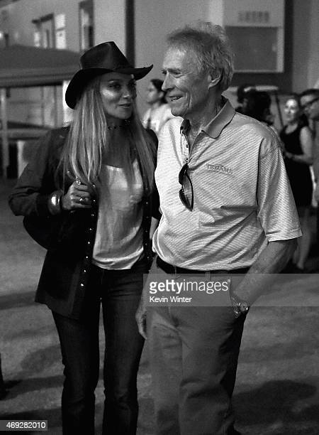 Actordirector Clint Eastwood and guest attend day 1 of the 2015 Coachella Valley Music Arts Festival at the Empire Polo Club on April 10 2015 in...