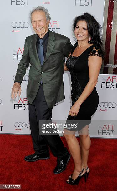 Actor/Director Clint Eastwood and wife Dina Eastwood arrive at the AFI FEST Opening Night Gala Premiere of J Edgar at Grauman's Chinese Theatre on...