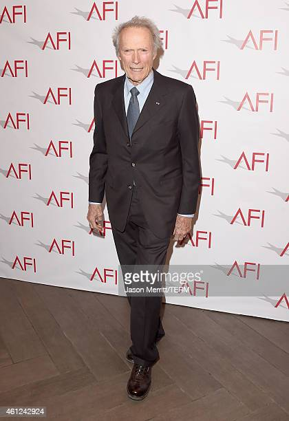 Actor/director Clint Eastwood attends the 15th Annual AFI Awards at Four Seasons Hotel Los Angeles at Beverly Hills on January 9 2015 in Beverly...