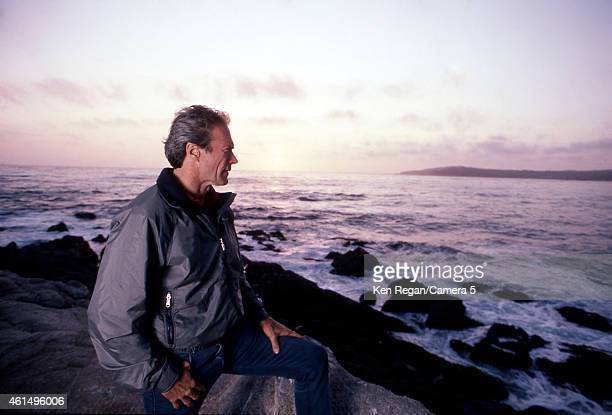 Actor/director Clint Eastwood is photographed in the 1990's in Carmel California CREDIT MUST READ Ken Regan/Camera 5 via Contour by Getty