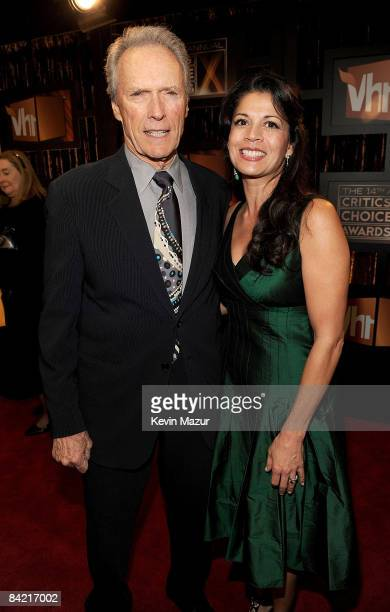 Actor-director Clint Eastwood with wife Dina Eastwood arrive on the red carpet at VH1's 14th Annual Critics' Choice Awards held at the Santa Monica...