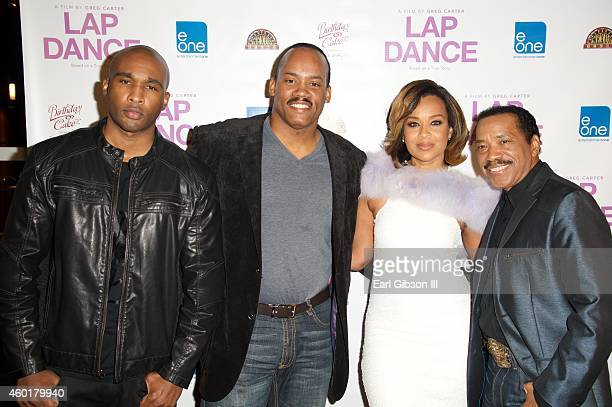 Actor/Director Datari Turner Producer Greg Carter Actress LisaRaye McCoy and Actor Obba Babatunde attend the Los Angeles Premiere of the film Lap...