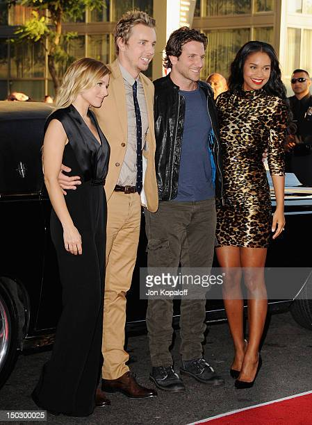 Actor/Director Dax Shepard actress Kristen Bell actor Bradley Cooper and actress Joy Bryant arrive at the Los Angeles Premiere Hit Run at Regal...