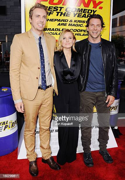 """Actor/Director Dax Shepard, actress Kristen Bell and actor Bradley Cooper arrive at the Los Angeles Premiere """"Hit & Run"""" at Regal Cinemas L.A. Live..."""