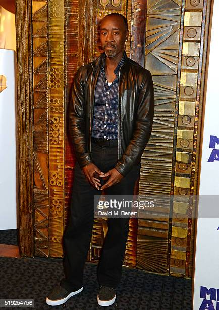 Actor/Director Don Cheadle pose at a photocall for Miles Ahead at The Curzon Mayfair on April 5 2016 in London England