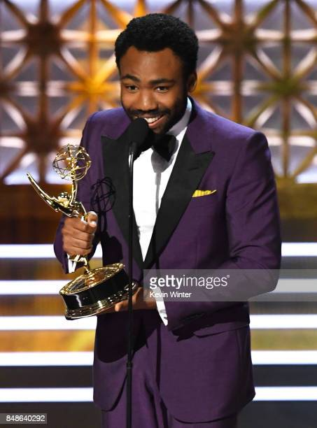 Actor/director Donald Glover accepts Outstanding Directing for a Comedy Series for 'Atlanta' onstage during the 69th Annual Primetime Emmy Awards at...