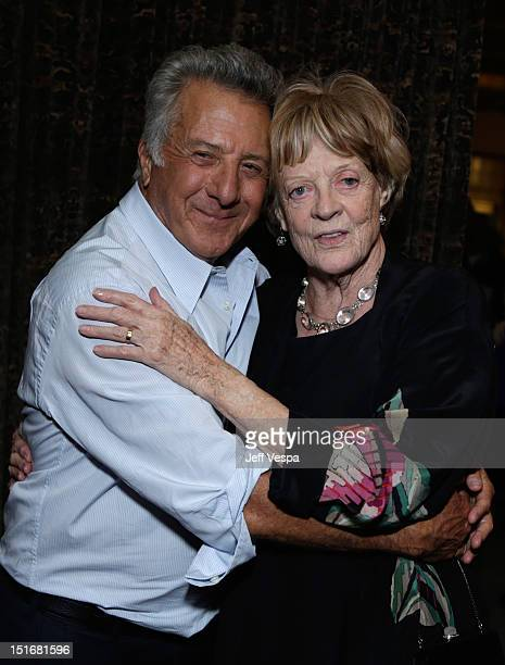 Actor/director Dustin Hoffman and actress Maggie Smith attend The Weinstein Company film premiere party hosted by Grey Goose for 'Quartet' at Soho...
