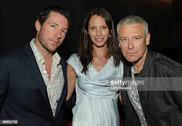 Actor/director Ed Burns model Christy Turlington and musician Adam Clayton attend the New York premiere of The Lazarus Effect at The Museum of Modern...