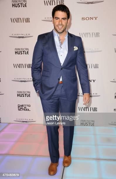 Actor/director Eli Roth attends the Vanity Fair Campaign Hollywood American Hustle toast at Ago Restaurant on February 27 2014 in West Hollywood...