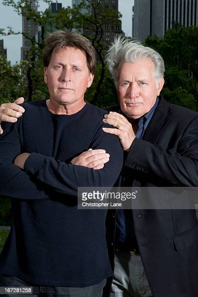 Actor/director Emilio Estevez and father/actor Martin Sheen are photographed for The London Times on May 7 2012 in New York City PUBLISHED IMAGE