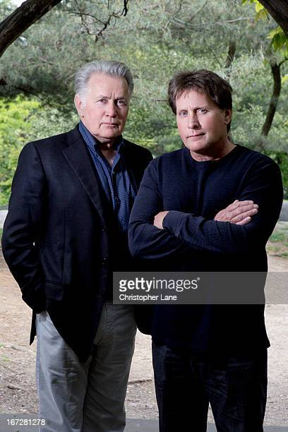Actor/director Emilio Estevez and father/actor Martin Sheen are photographed for The London Times on May 7 2012 in New York City