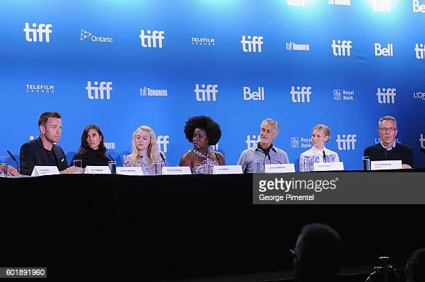Actor/director Ewan McGregor actors Jennifer Connelly Dakota Fanning Uzo Aduba David Strathairn Valorie Curry and producer Tom Rosenberg speak...