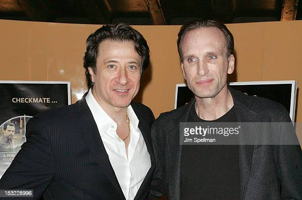 Actor/director Federico Castelluccio and actor Peter Greene attend the 'Keep Your Enemies Closer Checkmate' screening at the School of Visual Arts...