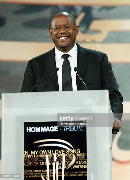 Actor/director Forest Whitaker delivers a speach after receiving an award for his carrer during Marrakech International Film Festival 2011 on...