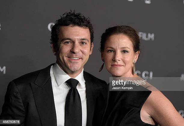 Actor/director Fred Savage and Jennifer Lynn Stone attend the 2014 LACMA Art Film Gala honoring Barbara Kruger and Quentin Tarantino presented by...