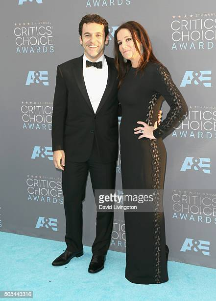Actor/director Fred Savage and Jennifer Lynn Stone attend The 21st Annual Critics' Choice Awards at Barker Hangar on January 17 2016 in Santa Monica...