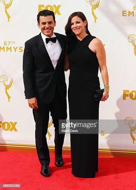 Actor/director Fred Savage and Jennifer Stone Savage attend the 67th Annual Primetime Emmy Awards at Microsoft Theater on September 20 2015 in Los...