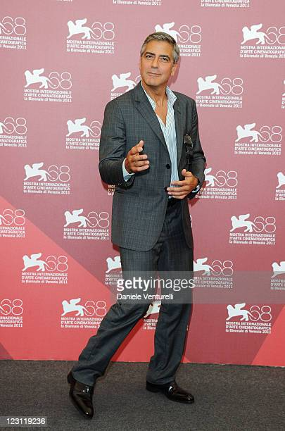 Actor/director George Clooney attends the The Ides of March Photocall during the 68th Venice International Film Festival at Palazzo del Casino on...