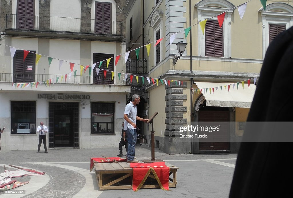 Celebrity Sightings in Sutri, Viterbo - July 20, 2018