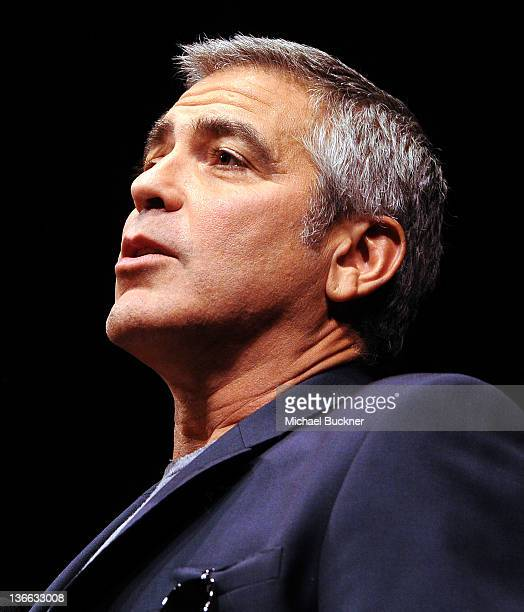 Actor/Director George Clooney speaks at Talking Pictures QA With George Clooney during the 23rd Annual Palm Springs International Film Festival at...