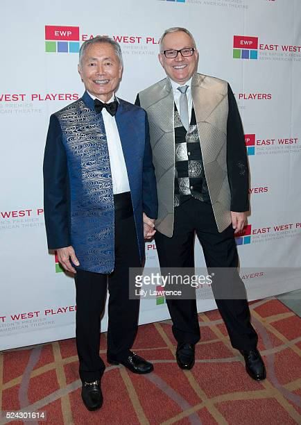 Actor/director George Takei and husband Brad Takei attend the East West Players 50th Anniversary Visionary Awards Dinner and Silent Auction at the...